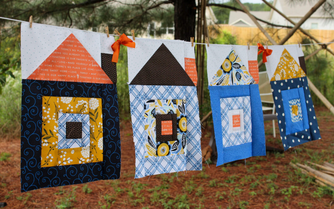 Sweet Home Quilt-a-long Week #2: Log Cabin Blocks